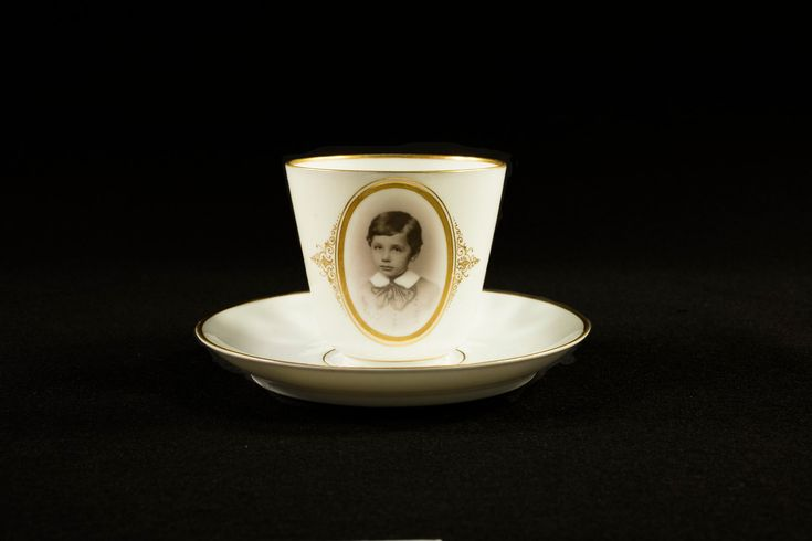 Albert Einstein's childhood chocolate cup, courtesy of the Leo Baeck Institute.