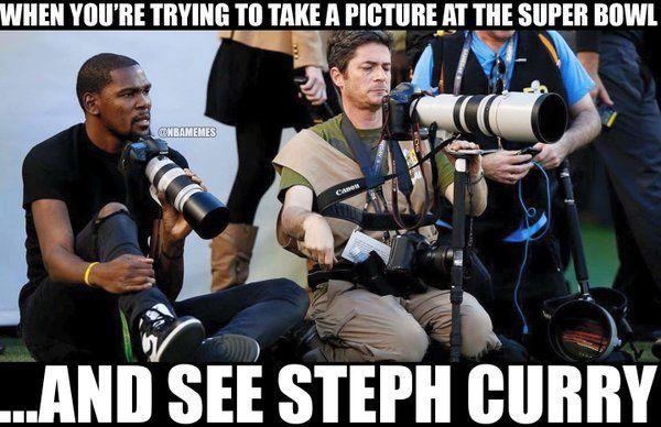 RT @NBAMemes: Photographer Kevin Durant running into problems today at Super Bowl 50. #Warriors #Thu - http://nbafunnymeme.com/nba-funny-memes/rt-nbamemes-photographer-kevin-durant-running-into-problems-today-at-super-bowl-50-warriors-thu