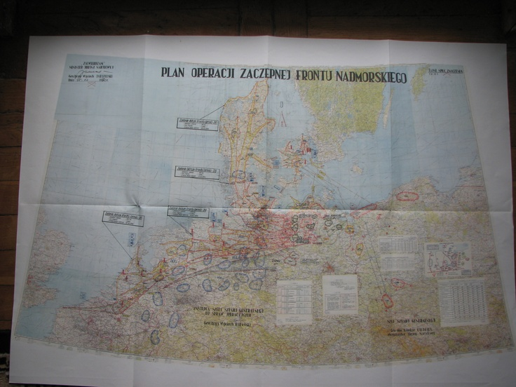 Map showing Polish plan of attack on Denmark and the Netherlands during Cold War. - Armchair General and HistoryNet  The Best Forums in History