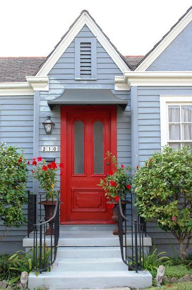 residential front doors red. Charming Cottages Line Betz Place In Old Metairie. Red Front DoorsRed Residential Doors