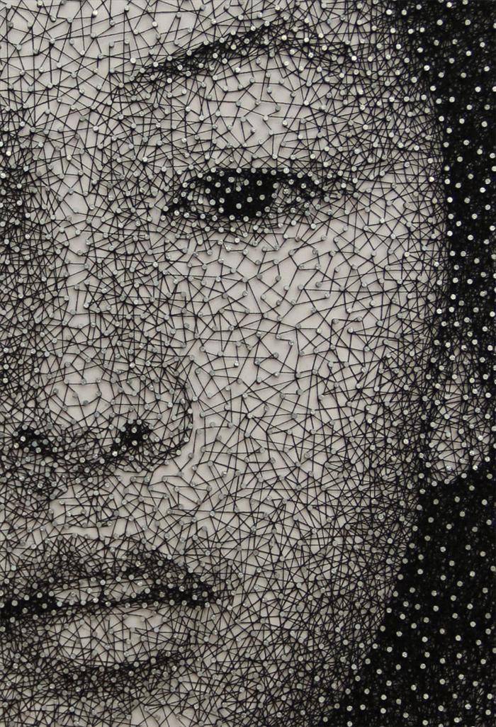 Kumi Yamashita - canvas, nails and thread