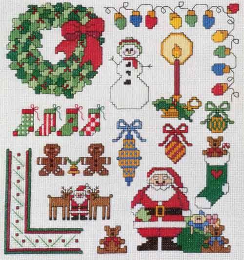 Cross Stitch Free Crochet Patterns To Print Mini Christmas P17079