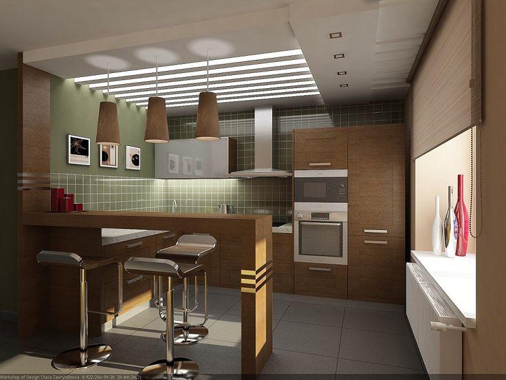 Дизайн кухни совмещенной с гостиной - Строительная компания SIVSTROY