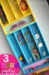 Flip Silverware Trays into Colourful Jewellery Organizers. >>> See even more by checking out the picture link