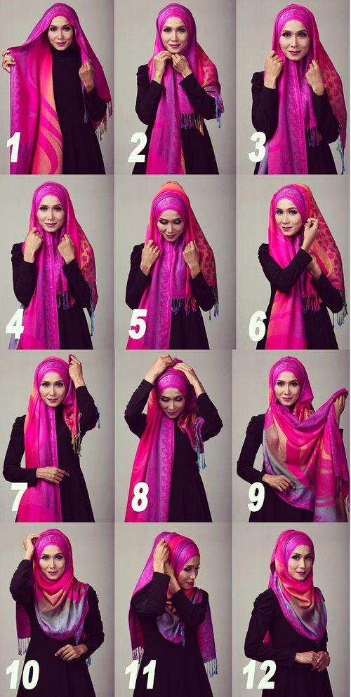 Step by step hijab tutorial