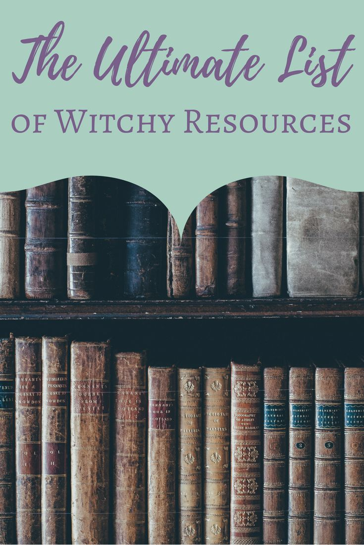 ☽✪☾... The Ultimate List of Witchy Resources | The Witch of Lupine Hollow