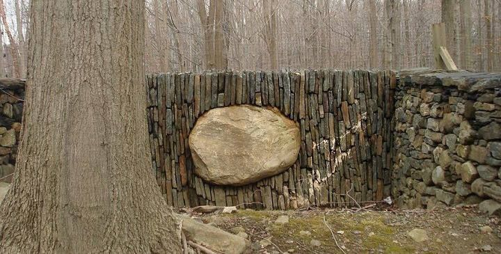 This is the work of Andy Goldworthy and personally, I have to say I'm impressed :0 What do you think of it? If you're looking for stone inspiration, you'll find lots of beautiful examples from other top artisans on our site at http://theownerbuildernetwork.co/landscaping-and-gardens/dry-stone-walls/ Why not share your own work here?