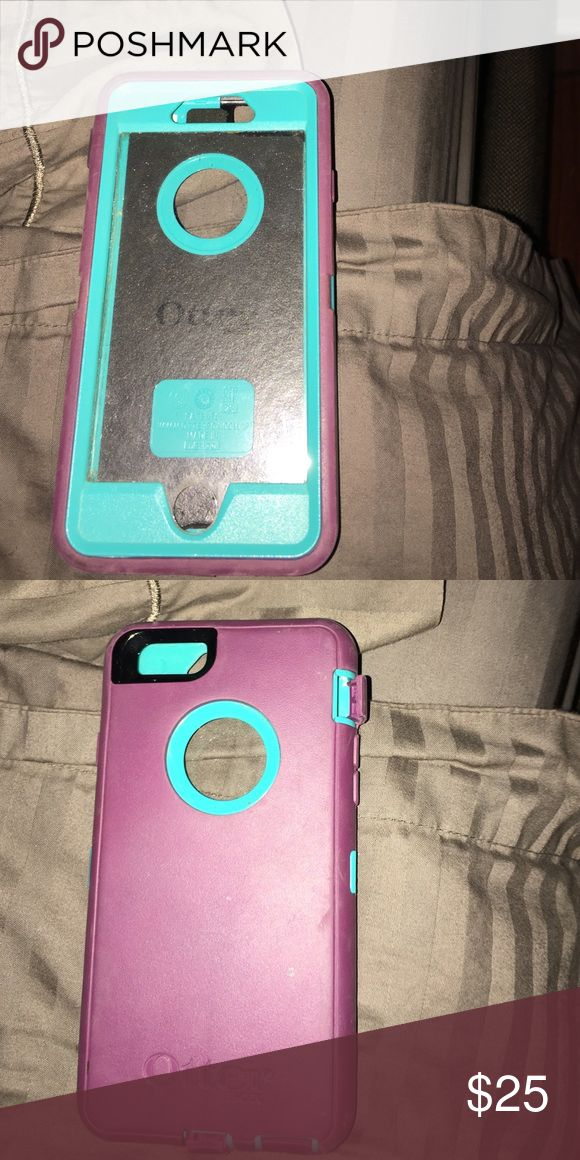 iPhone 6 otter box Teal and purple. In great shape! OtterBox Accessories Phone Cases
