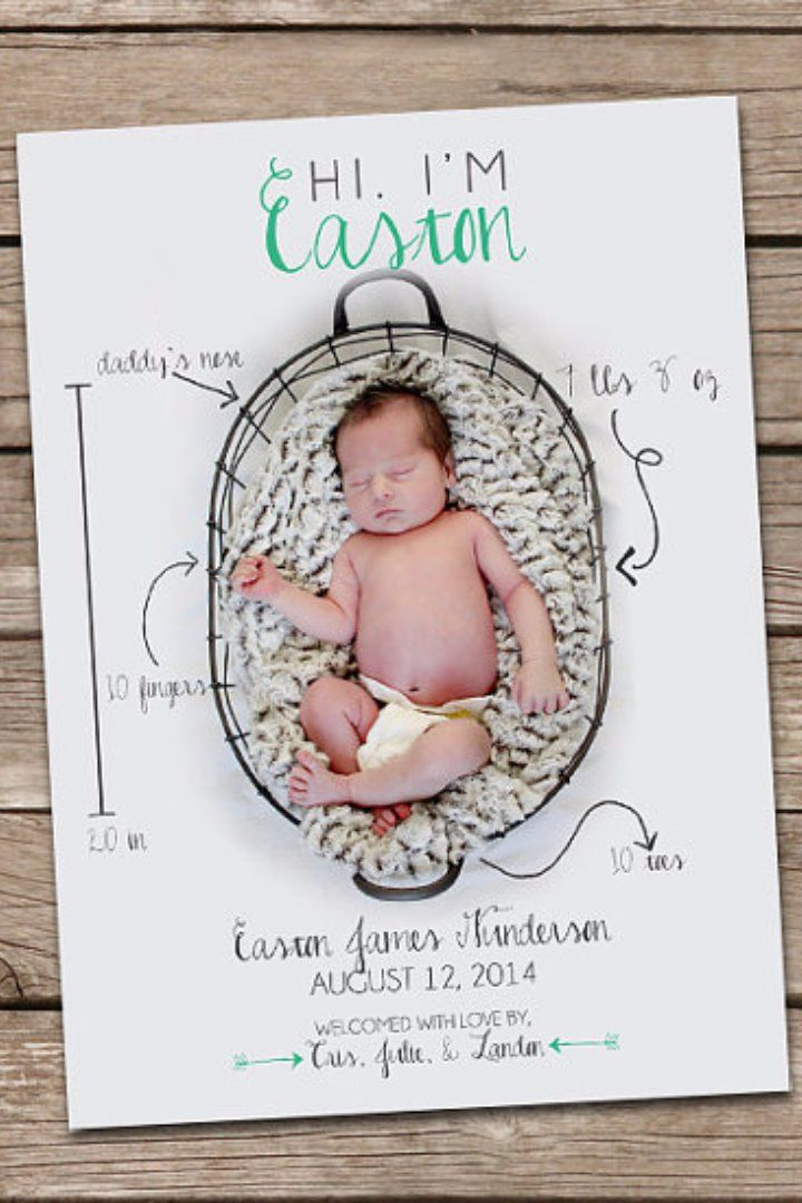 Best 25 Announcement cards ideas – Birth Announcement Card
