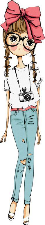 нарисованные девочки - Bing Изображения