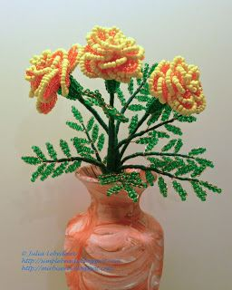 Beading for the very beginners: French Marigolds