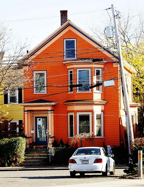 orange house orange pinterest