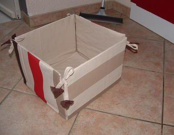 Boite De Rangement Tissu Carton Boite Carton Avec Tissu Boite De
