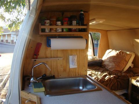 Cheap RV Living.com-Steve's Van Conversion