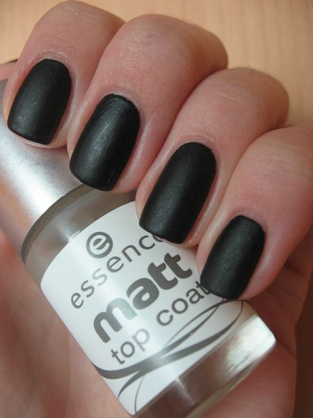 Essence - Galactic Black + Essence Matt Top Coat essence ...