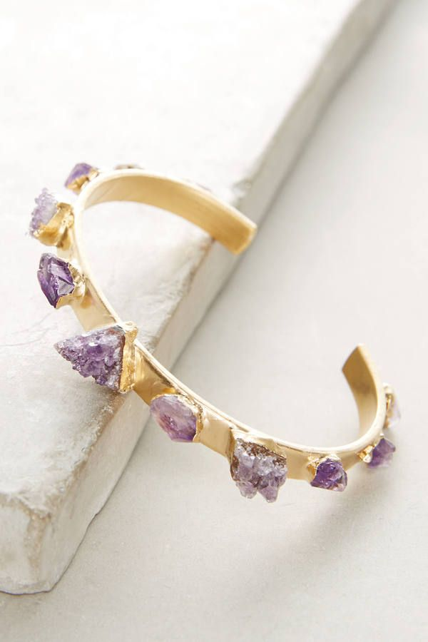 Dani Barbe Amethyst Narrow Cuff