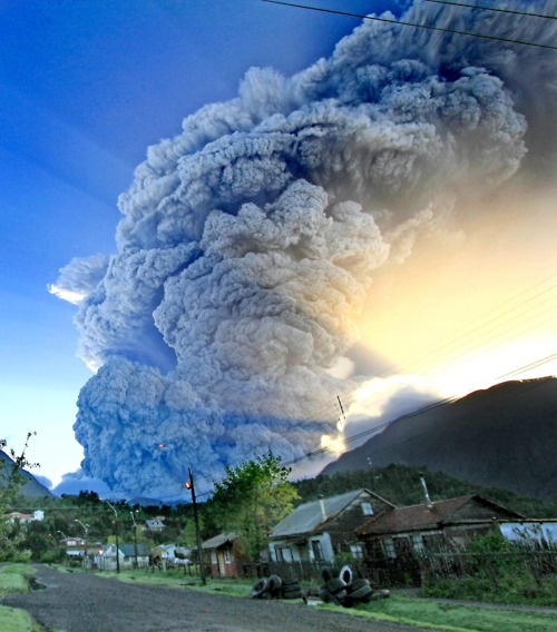 Volcano erupts in Chile #volcano eruption #Chile #weather