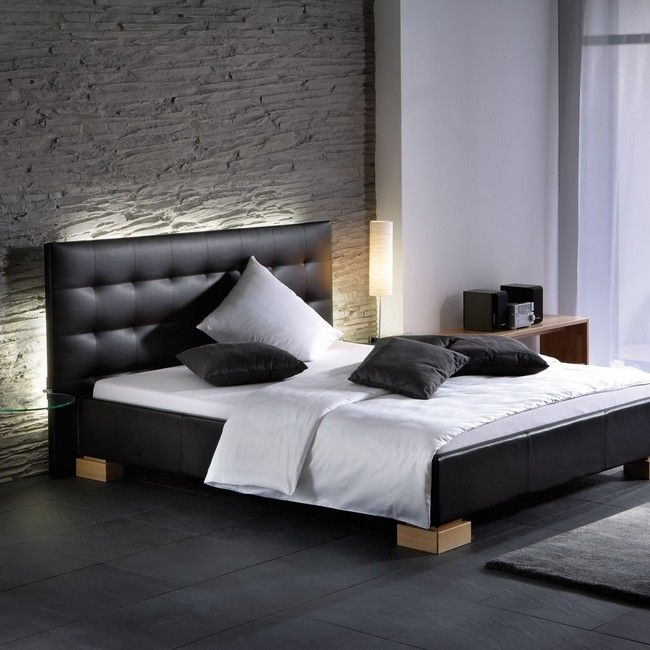 Wall made of stone - Contemporary Headboard Ideas for your Modern Bedroom