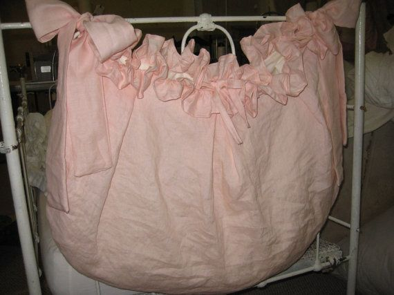 Storybook Style Crib Accessory BagRuffled by cottageandcabin, $90.00