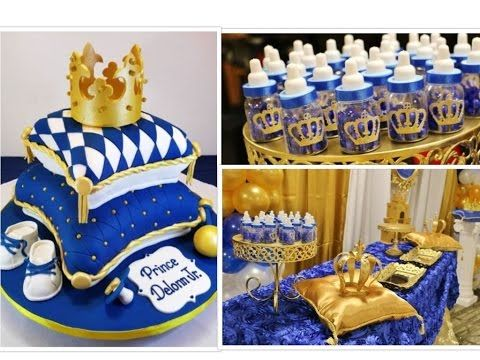 Royal Prince Baby Shower Decorations Ideas For Baby Boys.