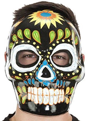Day of Dead Mask Halloween Black Full Face Costume Día de la máscara muerta NEW #JACOBSONHAT #FACEMASK #DAYOFTHEDEAD
