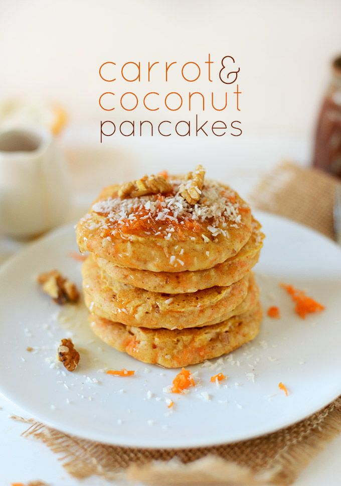 I wonder if we could use the carrot pulp from our juicer to make these???  >>  Carrot and Coconut Vegan Pancakes