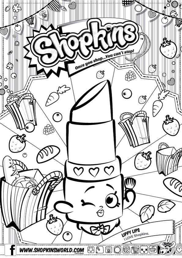 Shopkins Coloring Shopkins Colouring Pages Shopkin