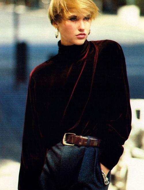 Arthur Elgort for Mademoiselle magazine, November 1985. Clothing by Ralph Lauren.