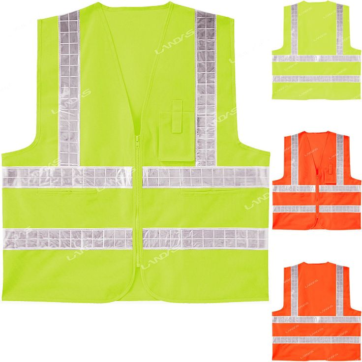 New High Visibility Safety Security Guard Reflective Construction Traffic Vest #hellobincom