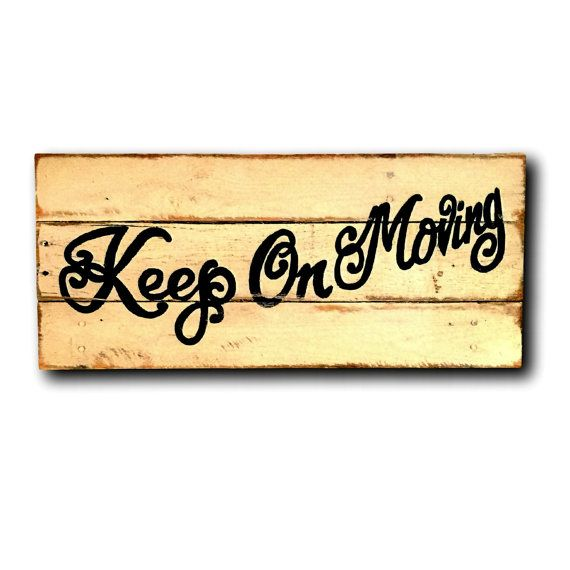 Keep On Moving Wall Hanging by PalletsandPaint on Etsy