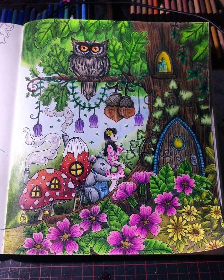 """Gefällt 51 Mal, 9 Kommentare - Steffie, deutschland, ♐ (@paintanddream) auf Instagram: """"Ivy and the inky butterfly Colouring book Johanna Basford #johannabasford…"""""""