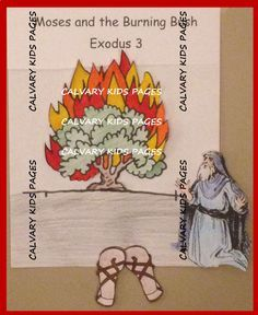 Moses and the burning bush story craft. This page will help you prepare your Sunday school lesson on Exodus 2:11 - 4:18 on the Bible story of Moses and the burning bush.