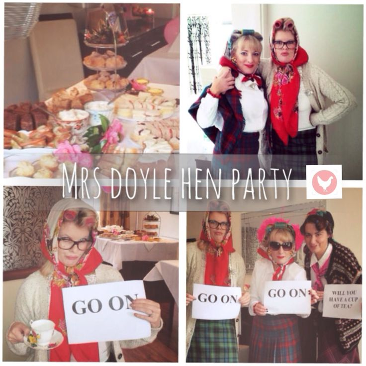 Mrs Doyle Hen Party | Hen Party Ideas | The Hen Planner @Natalya Mishyna Man-onion Hilarious! Makes me think of your old lady costume!!