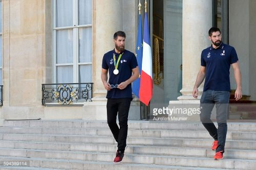 PARIS, FRANCE - AUGUST 23: (L-R) Luka Karabatic and Nikola... #velaluka: PARIS, FRANCE - AUGUST 23: (L-R) Luka Karabatic and… #velaluka