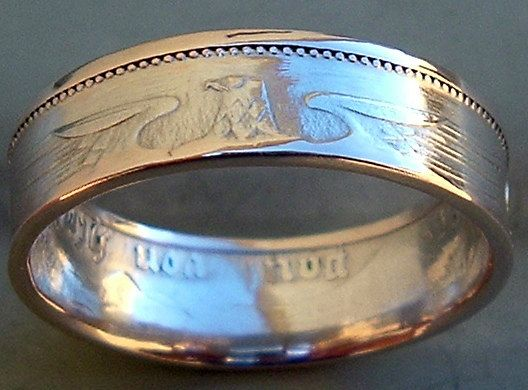 1939 German 2 Mark Coin Ring in a size 8  Reserved by CoinRingMan, $46.00