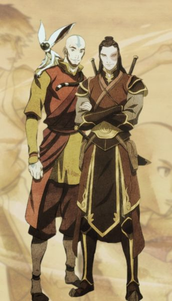 Aang and Zuko! Actual concept art by show creators from comic con!