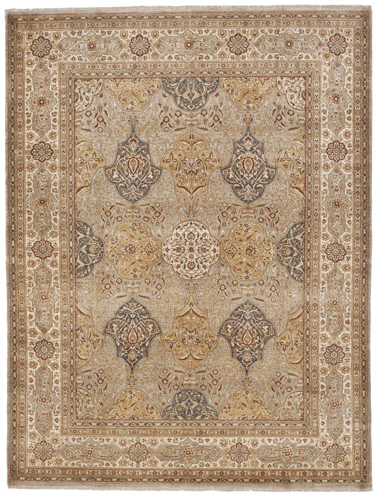 """Hand Knotted Indian Rug - 8'x 10'6"""""""