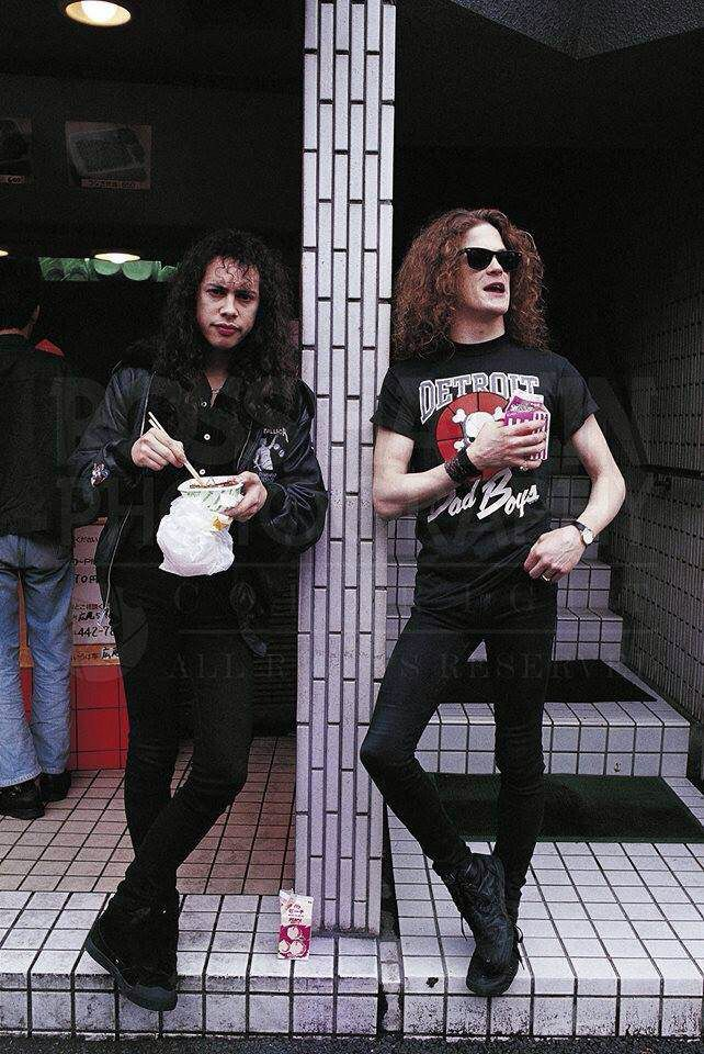 Metallica # kirk hammett & Jason Newsted