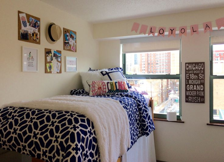 Preppy dorm room Loyola Chicago Dorm