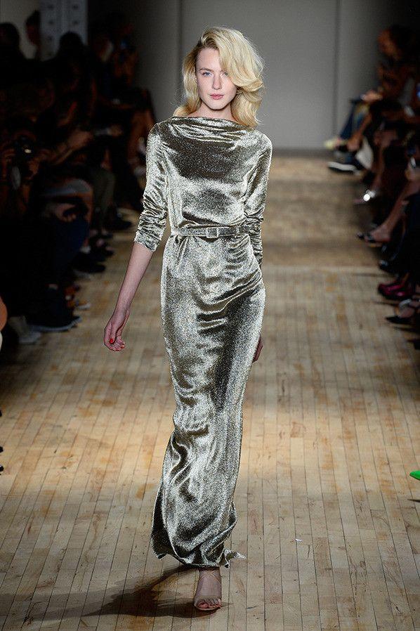 "Jenny Packham New York Fashion Week Spring 2015 Runway- ""What is that, velvet?!"" LOL"