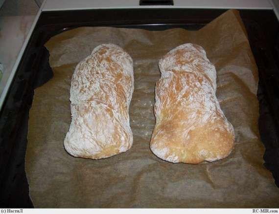 Чиабатта (замес в хлебопечке) - ХЛЕБОПЕЧКА.РУ - рецепты, отзывы, инструкции