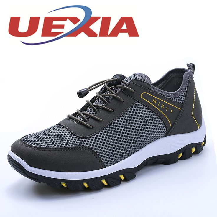 >> Click to Buy << Fashion Men Shoes Outdoor Breathable Mesh Trekking Casual Flats Shoes For Mens Sport Comfortable Soft Zapatos Hombre Black #Affiliate