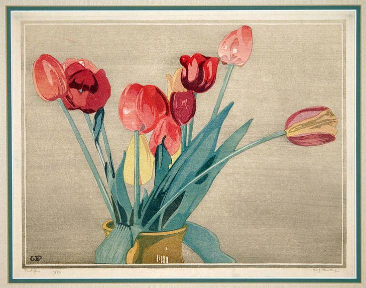 Walter J. Phillips - Tulips at 1stdibs