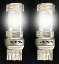 RECON Part # 264228WH 7440 Bulbs (5 Extreme High Power CREE LEDs on each bulb) 360 Degree 30-Watt CREE LEDs for use as Reverse Light Bulbs in 2014-2015 DODGE RAM Tail Lights - WHITE (Two Bulbs Per Package)