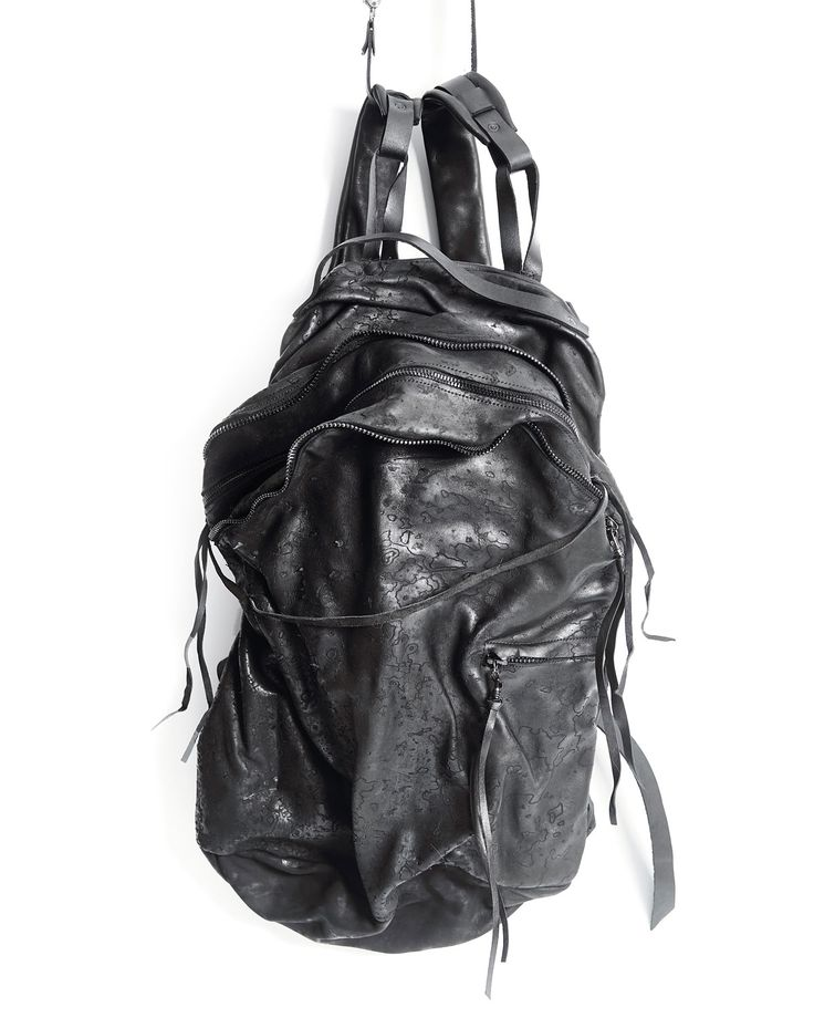 ytn7 – Leather backpack 081Y - black – - Size: 29x44x15(29)cm - Material: Genuine leather, 100% cotton - Handmade in Russia