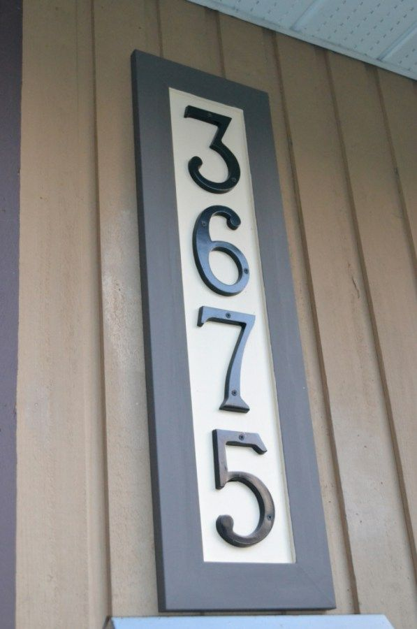 25 Best Ideas About House Numbers On Pinterest Diy House Numbers Address Numbers And Address