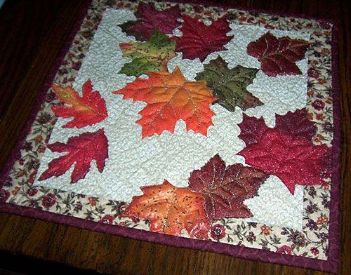 Autumn leaf quilt - Brenda....I'll trade ya this for a leaf bowl!  : )