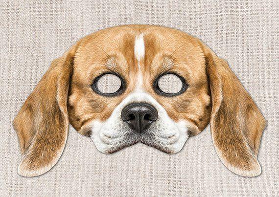 Beagle Printable Mask Dog Beagle Photo Real Dog Mask Halloween