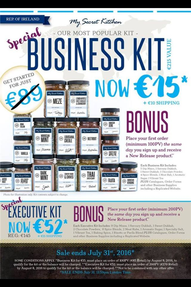 Joining sale for Rep of Ireland ends July 31st 2016 www.rebeccastanbury.yourinspirationathome.com.au