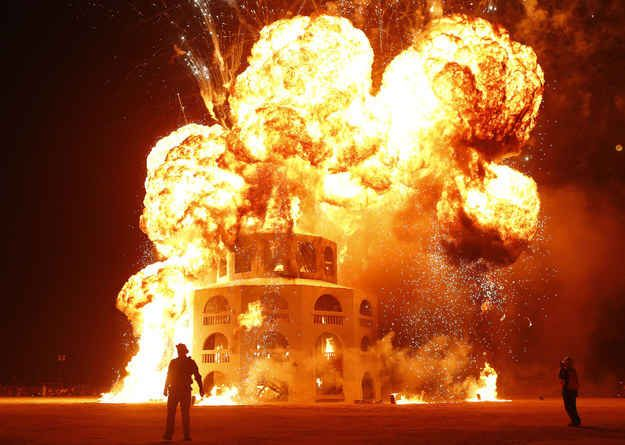 Burning hot Burning Man